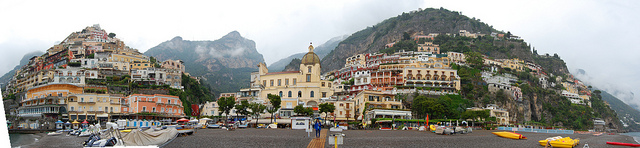 Positano view from the beach during a Tour & Excursion day